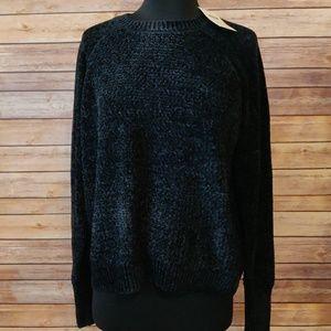 Black Chenille  Sweater
